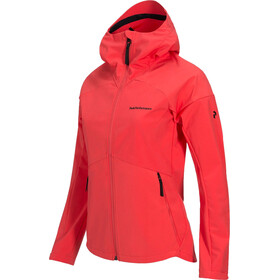 Peak Performance Adventure Hood Jacket Women Pink Flow